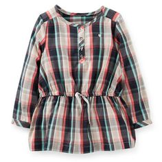 Flannel Plaid Tunic | Carter's | Get up to 8% Cashback when you shop at Carter's as a DubLi member! Not a member? Sign up for FREE today! www.downrightdealz.net