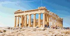 These GIFs reconstruct 7 ancient ruins around the world, including the Parthenon, Luxor Temple, the Temple of Jupiter and the Pyramid of the Sun. Ancient Ruins, Ancient Greece, Ancient History, Luxor Temple, Architecture Antique, Architecture Design, Gifs, Parthenon Athens, Hadrian's Wall