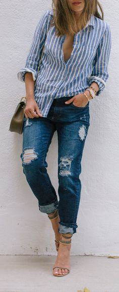 Diy Distressed Jeans Casual Style by Song Of style