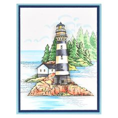 Build a Lighthouse Black by Fran Seiford - Stampendous