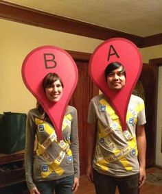 #Halloween #costume #ideas #GoogleMap #Couple