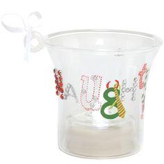 Santa Barbara Design Studio Lolita Holiday Mini Candle LED Ornament, Naughty and Nice