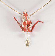 Collier oiseau en origami  MOYO  Bijoux par Coquetteenpapier