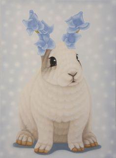 Sembla que per aquests conills  ja ha florit la primavera.   (il·lustració de Jung Sung One-정성원 )