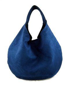 Handbag Hobo bag Womeh purse Suede purse Modern by Torebeczkowo