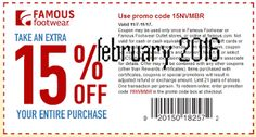 Free Printable Coupons: Famous Footwear Coupons