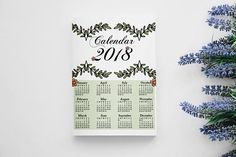 Check out this item in my Etsy shop https://www.etsy.com/uk/listing/572966069/wall-calendar-2018-calendar-2018-2018