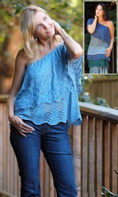 Natasha, designed by Trudy Van Stralen, knit in Euroflax Linen