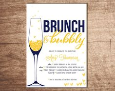 Brunch & Bubbly Bridal Shower Invitation von InvitesByAllie auf Etsy