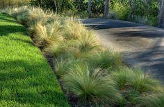 flowing grasses Terrace Garden, Lawn And Garden, Garden Art, Garden Design, Farmhouse Landscaping, Modern Landscaping, Front Yard Landscaping, Landscape Curbing, House Landscape