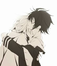 Owari no seraph (This isn't yaoi. This is a canon scene from the anime. Just saying)
