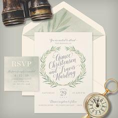 Greenery & Watercolor! We are loving everything about this brand new invitation! . . . #greeneryinvitations #greenerywedding #watercolorwedding #weddinginvitations #utahwedding #botanicalwedding