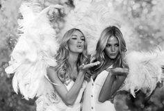 Angels blow kisses