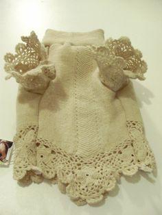 Designer Dog Sweater Small Crocheted Wool Dog от MyFabulousPuppy