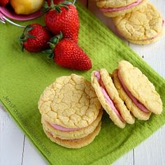But my favorite thing about this strawberry cookie recipe is how easy it is to make. Simple cake mix cookies are the fastest route to a delicious treat! Strawberry Lemonade Cookies, Strawberry Pudding, Strawberry Buttercream, Lemon Sugar Cookies, Favorite Cookie Recipe, Lemon Cake Mixes, Chocolate Strawberries, Chocolate Chip Cookies, Cookie Recipes