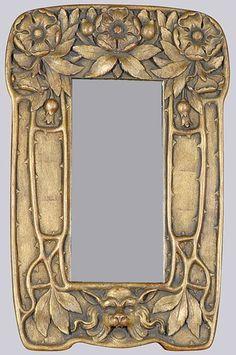 2520: Art Nouveau Style Gilt-Wood Mirror : Lot 2520