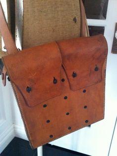 vintage swedish leather ammo bag - great side slung purse. $68.00, via Etsy.