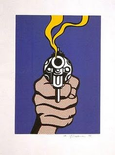 Pop Art Heaven: Your Source for Primary Pop Art, Roy Lichtenstein, The Gun in America - cover illustration Roy Lichtenstein Pop Art, Jasper Johns, Arte Pop, Comic Kunst, Comic Art, Bd Pop Art, Pop Art Design, Illustrations, Illustration Art
