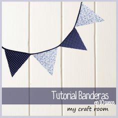 Cómo hacer banderines de tela (técnica 1- zig zag) | my craft room