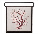 Painted Coral Branch Square Panel, 17.5 x 18. 47 usd sale @ Pottery Barn