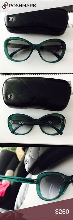 70fa6d35ab Chanel Teal 5246 Sexy Unisex Fashion Sunglasses NO SEE ONS Chanel model    5246 color
