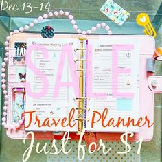 VACATION Planner Personal Size 3.7x6.7. Retro by EasyLifePlanners