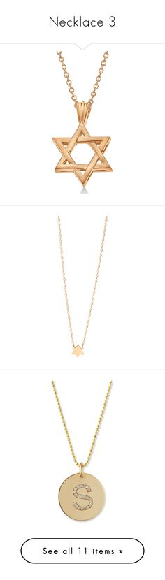 """""""Necklace 3"""" by designing-myworld ❤ liked on Polyvore featuring jewelry, necklaces, accessories, rose gold, 14k rose gold pendant, 14 karat gold necklace, rose gold necklace, 14 karat gold pendants, carved pendant and gold"""