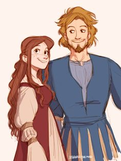 Adult Lucy and Peter Pevensie by Johanna the Mad #narnia #fanart