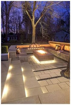 ways to improve your Techo-Bloc outdoor living area . - 7 ways to improve your Techo-Bloc outdoor living area ways to improve your Techo-Bloc outdoor living area . - 7 ways to improve your Techo-Bloc outdoor living area - Clean, ge. Backyard Seating, Backyard Patio Designs, Fire Pit Backyard, Backyard Ideas, Landscaping Ideas, Cozy Backyard, Garden Fire Pit, Fire Pit Seating, Mulch Landscaping
