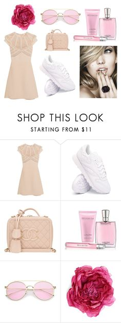 """""""Summer look for her"""" by linus-isotalus on Polyvore featuring Miu Miu, Reebok, Chanel, Lancôme and Gucci"""