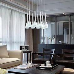 colgante ocho luces blanco 220v manera sencilla y moderna – MXN $ 6,282.15