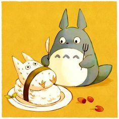 my neighbor totoro fanart | ... My Neighbour Totoro totoro sushi studio ghibli hayao miyazaki fan art