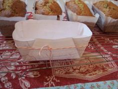 DIY parchment paper loaf basket for homemade quick loaves.