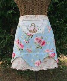 Half apron using vintage textiles
