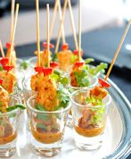 Beautiful Thai Chicken Satay (all dressed up for a party!), served here with peanut satay sauce