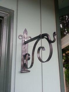 Hand made wall bracket blacksmith made by BackyardBlacksmithin, $55.00