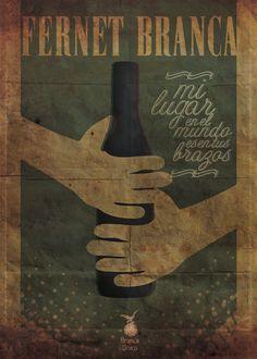 Afiche/ Fernet Branca by Maximiliano Passarelli, via Behance