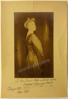 Schumann-Heink, Ernestine - Large Signed Photo