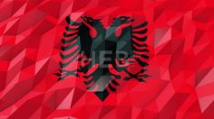Flag of Albania 3D Wallpaper Animation