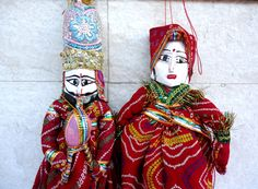 red puppets, indian dolls, bohemia banjara collectible doll with pungi/flute marionettes, tirbal eco friendly indian toys, ethnic home decor by craftcoloursindia on Etsy