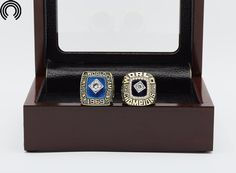 factory sales Ring sets with Wooden Boxes Replica Baseball Copper 2pcs/Packs New York Mets mets championship ring set #Affiliate