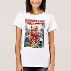 Shop Ringling Brothers & Barnum & Bailey Vintage Clown T-Shirt created by scenesfromthepast. Personalize it with photos & text or purchase as is! Vintage Circus Posters, Ringling Brothers, Vintage Clown, Retro Outfits, Christmas Shirts, Vintage Fashion, Vintage Style, Shirt Style, Shirt Designs