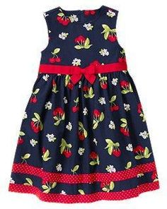 New Gymboree Cherry Cute girls' size 7 dress-JUST REDUCED to 61% off original price & FREE US SHIPPING-$14.39