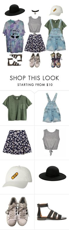 """""""Summer Grunge"""" by grungyprincess ❤ liked on Polyvore featuring Monki, Betmar, adidas, Givenchy and Dr. Martens"""