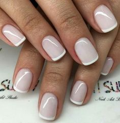 50 super french tip nails to bring another dimension to your manicure - Nageldesign - Nail Art - Nagellack - Nail Polish - Nailart - Nails - Manicure Colors, Nail Polish Colors, Manicure And Pedicure, French Pedicure, Color Nails, Gel French Manicure, French Manicure Designs, Pedicures, Gel Manicures