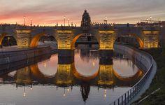 El Puente de Toledo, Atardecer en el Puente de Toledo