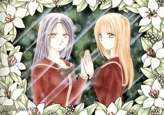 Ayashi No Ceres by Yuu Watase: The story of Aya Mikage and her twin brother Aki, driven apart by the forces of fate. On their sixteenth birthday, Aya and Aki are called to the family home to be given a special present. What they thought was a birthday party, however, was really a test--one which Aya failed. She was found to possess the reincarnated spirit of an ageless tennyo (Angel), one bent on the recovery of her hagoromo (robe) and the destruction of the Mikage family.