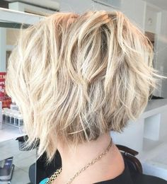 Edgy Inverted Bob for Blondes