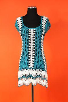 pretty crochet coverup