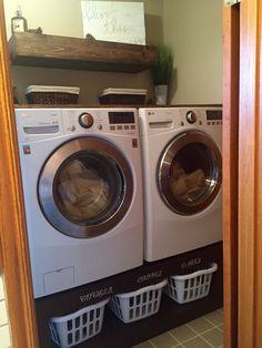 Lavatrice e asciugatrice piedistallo | Fai da te Home Progetti da Ana Bianco
